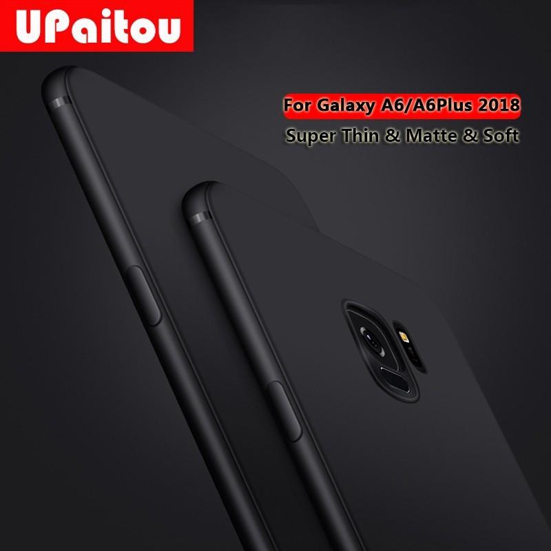 Samsung Galaxy A6 A8 Plus A7 A9 2018 A10 A30 A50 A70 Case Soft Matte TPU  Cover