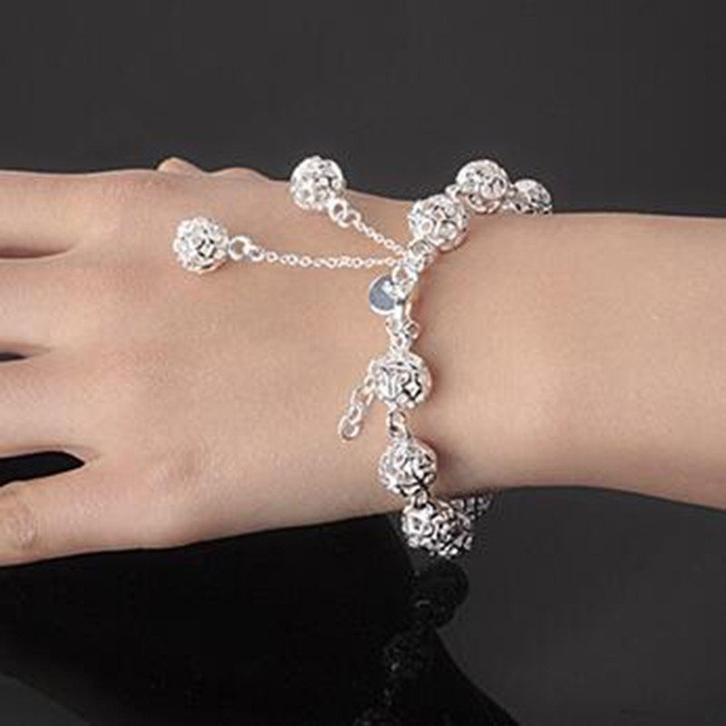 cb34ed012970 ProductImage. ProductImage. Fashion 925 Sterling Silver Jewelry Women  Pastoral Style Bracelet Jewelry Silver