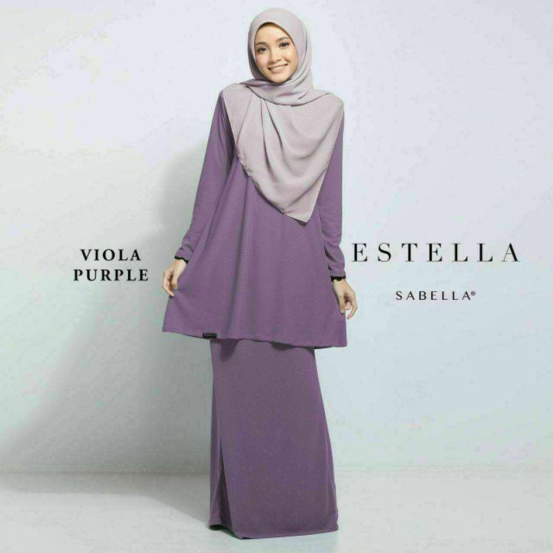 Sabella Estella Baju Kurung Size 4XL & 5XL (Ready Stock)