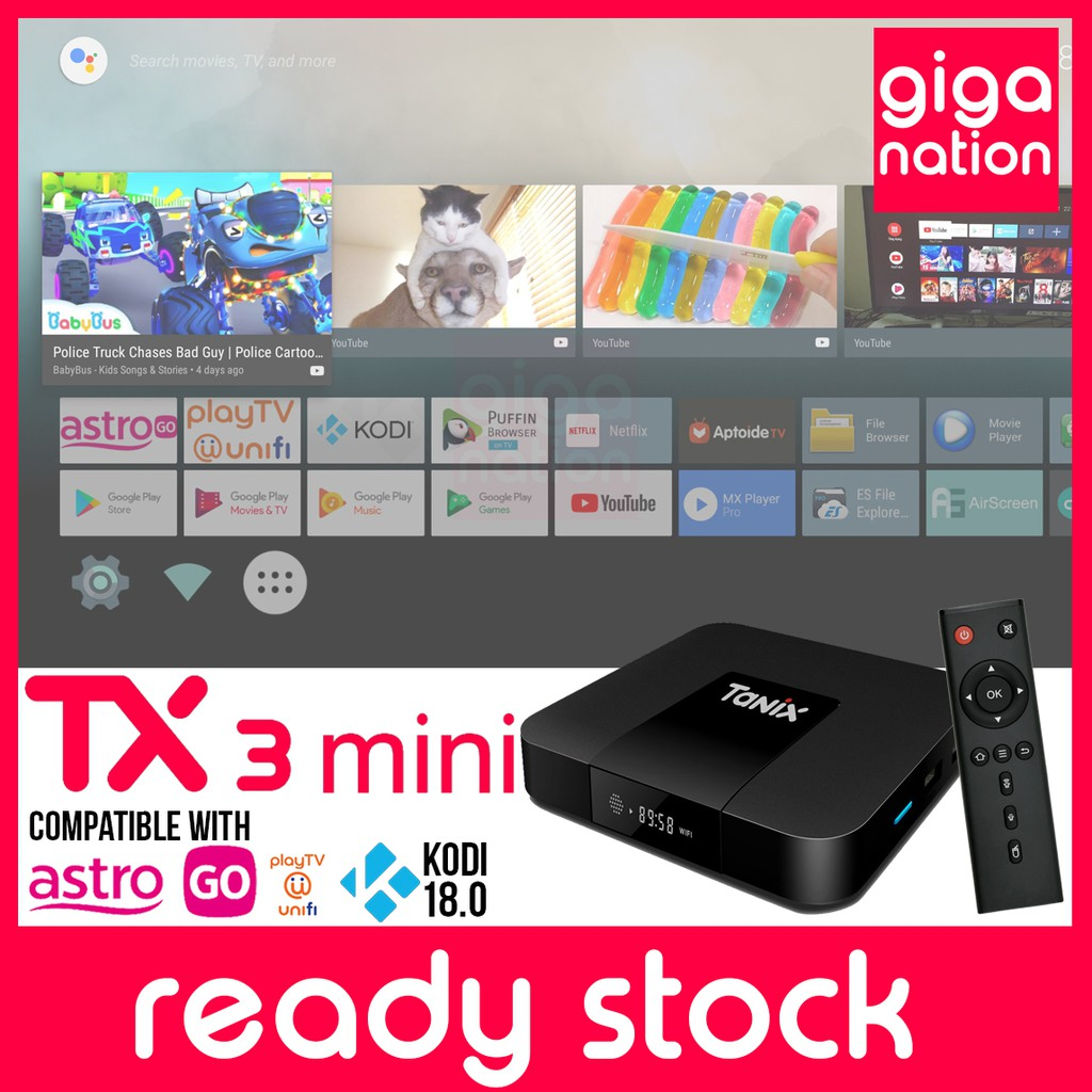 [Over 3000 channel + Latest Apps] TX3 Mini 2GB 16GB Android TV Box Smart TV  IPTV