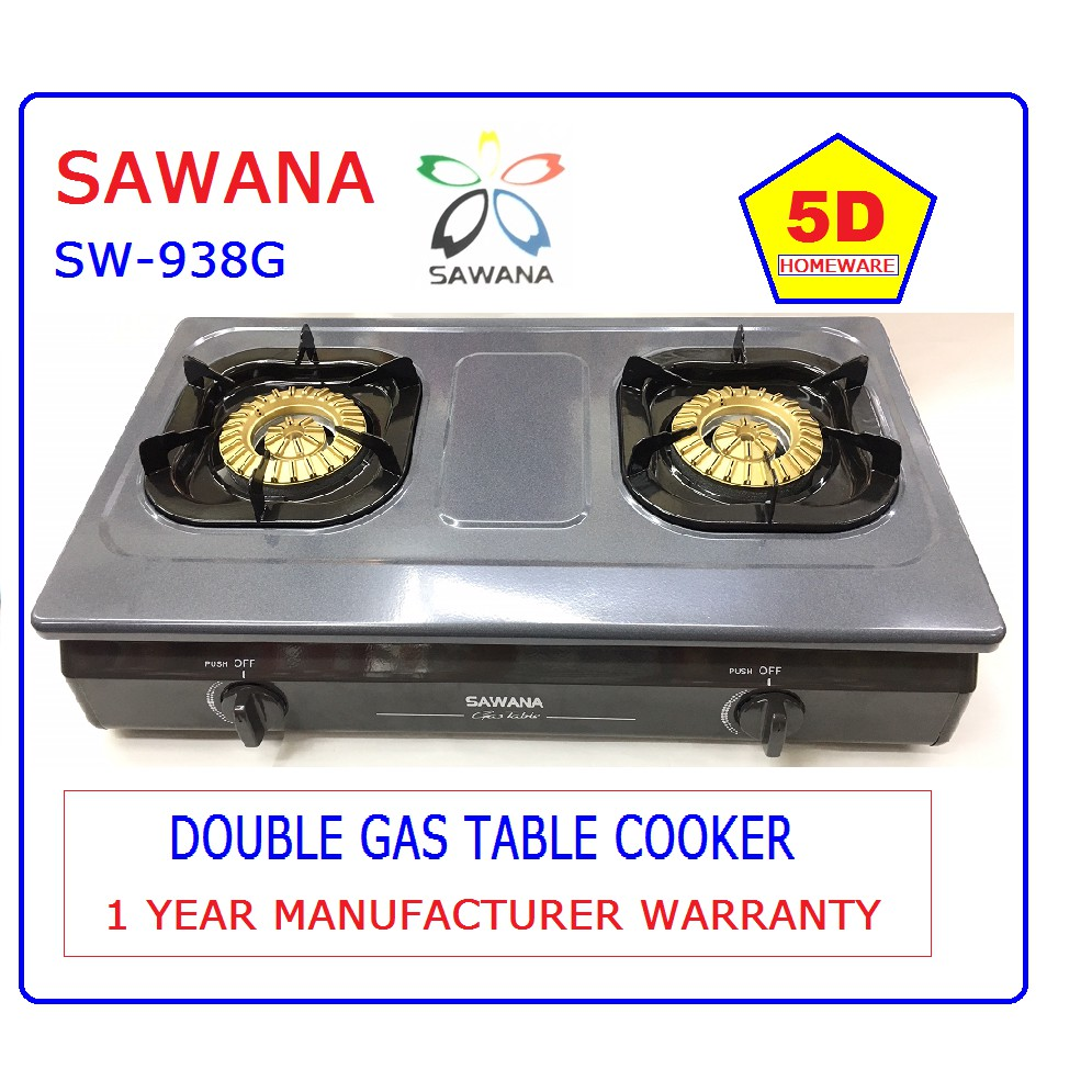 SAWANA SW-938G Double Stove Table Gas Cooker