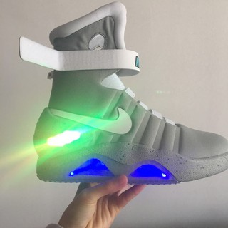 Aja Guerrero Macadán  🔥HOT🔥Nike Air Mag Back to the Future McFly Mens high-top sneakers shoes  grey 40-46 | Shopee Malaysia