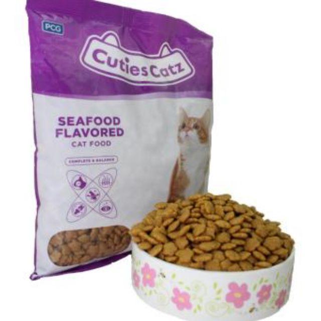 Cuties Catz Seafood Tuna Chicken Shrimp Flavored Cat Food / Makanan Kucing