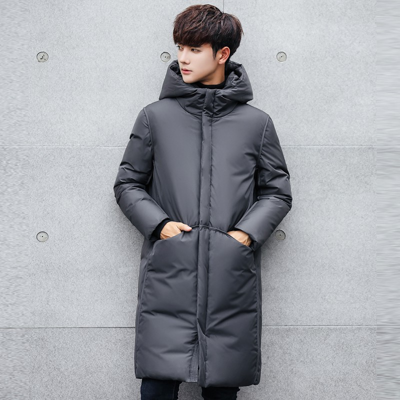 88d4ac291b3 Men's Casual Solid Winter Jacket Men Hooded Thick Warm Padded Cotton Coat