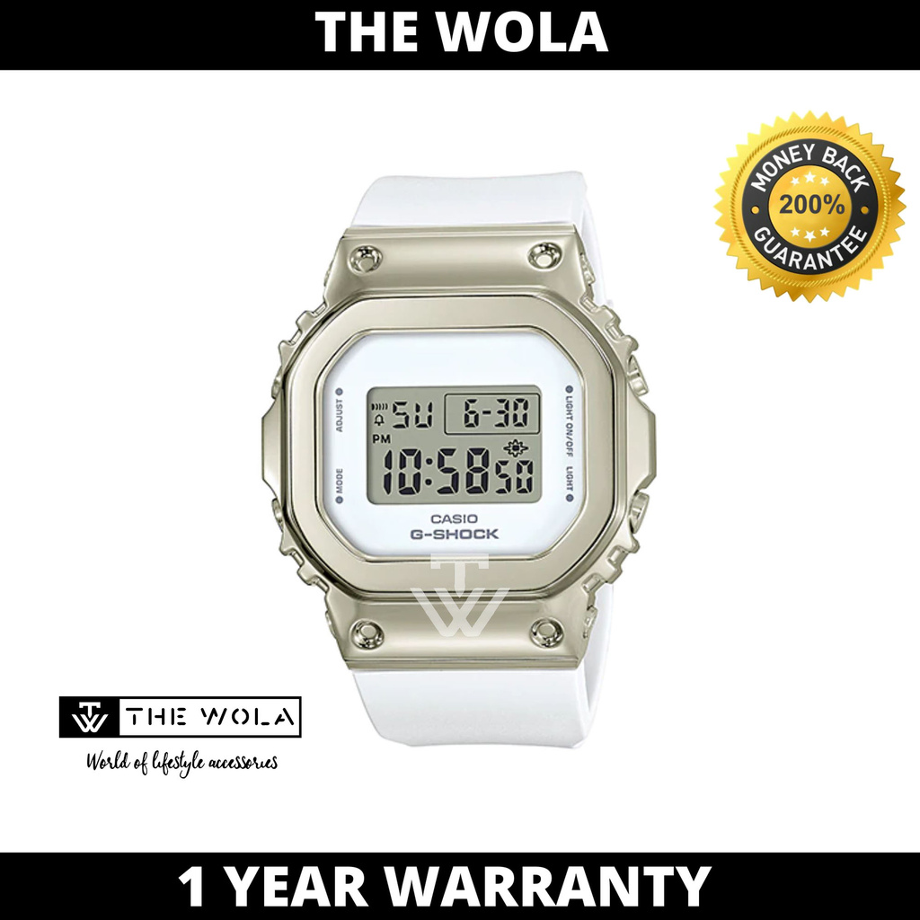 Casio G-Shock Women's Digital GM-S5600G-7DR White Resin Band Sport Watch