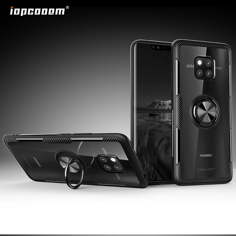 Huawei Mate 20 Pro Mate20 Lite X Case Shockproof Armor Tough Transparent  Magnetic Ring Stand Hard Cover