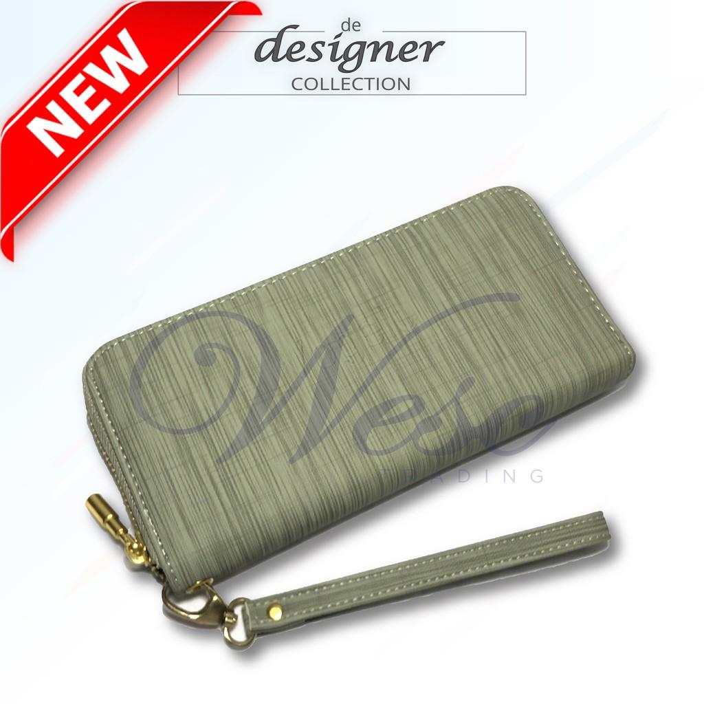 Korean Designer Stylish Long Zipper Purse - LIMITED EDITION (Green - VGL)