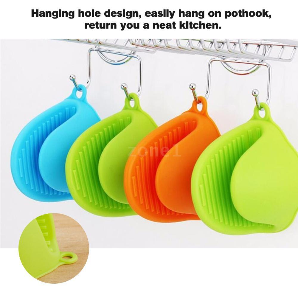 1PCS Kitchen Silicone Heat Resistant Gloves Clips Insulation Waterproof Non  Stick Anti-slip Pot Bowel Holder Clip Avoid