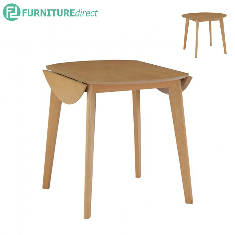 Oved 900 x 600+150+150 round extension table in Natural colour