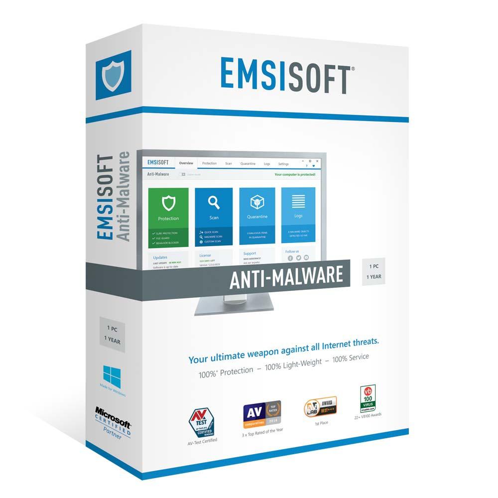 Emsisoft Anti-Malware. Antivirus. Genuine License Code by ...