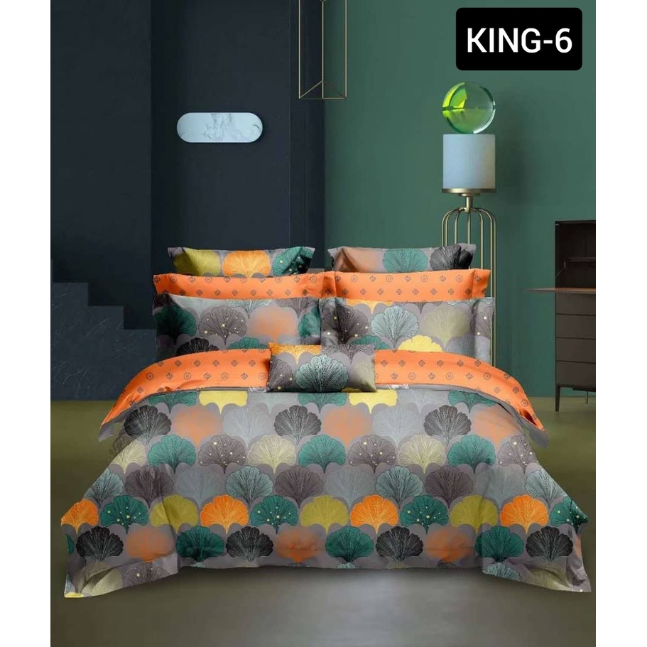 Hotel Cadar King with Comforter 8 in1 100% Cotton [ Ready Stock ]   High Quality Fitted Bedsheet With Comforter Set