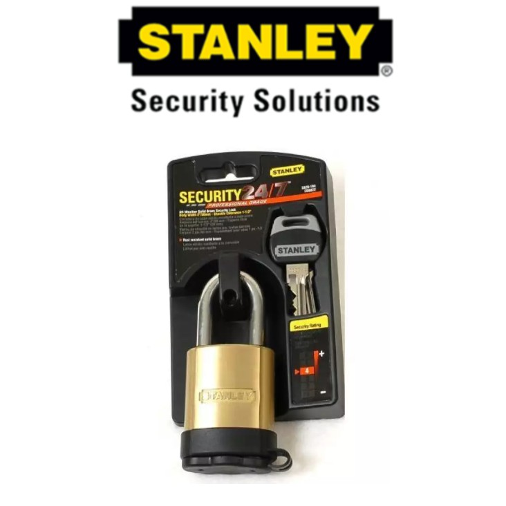 STANLEY S828-194 ALL-WEATHER SOLID BRASS SECURITY LOCK 2' 50MM SECURITY LOCK
