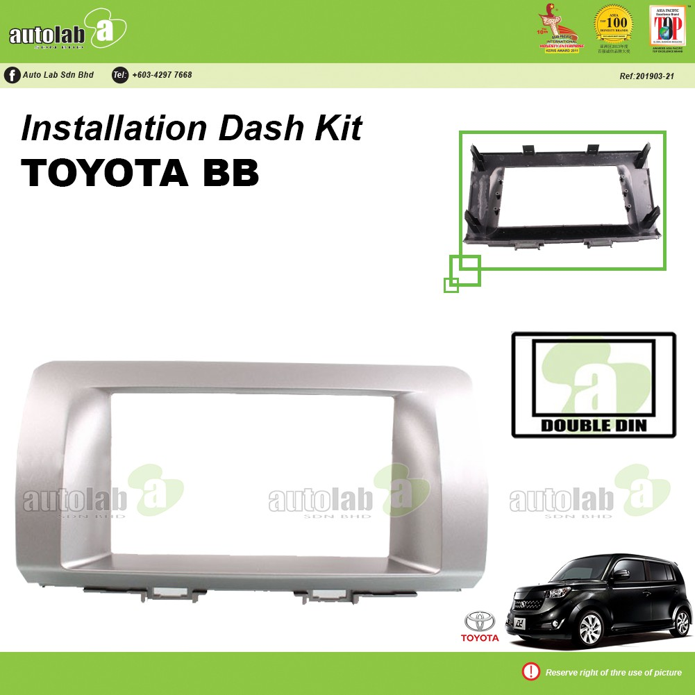 Player Casing Double Din Toyota BB