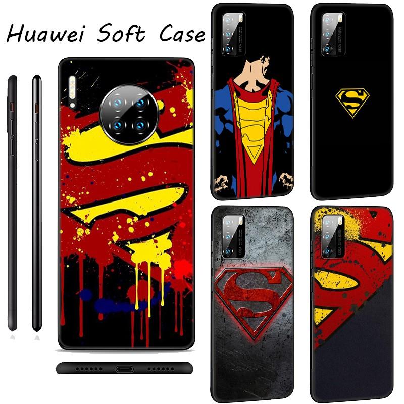 Huawei P40 Pro Max P30 P20 Pro P9 Lite Nova Smart Silicone Casing phone Soft Case LU103 Superman Logo