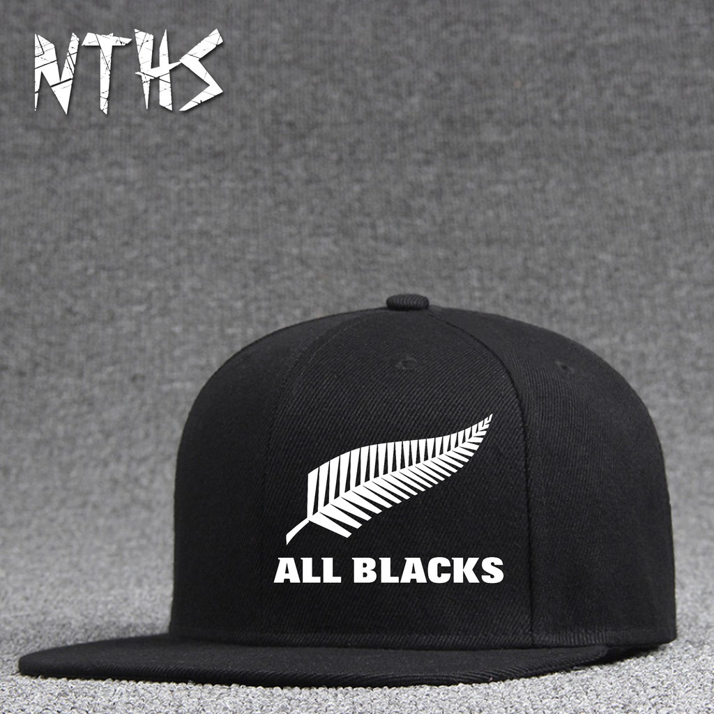 All Black Rugby Printed Hiphop Cap Unisex Adjustable Hats Caps Jo 24 Shopee Malaysia