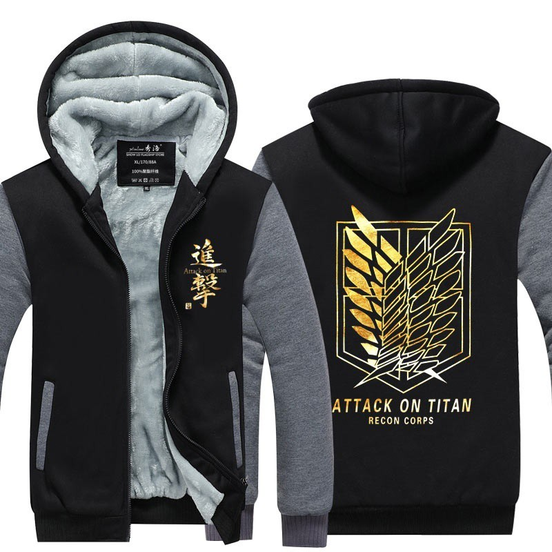 Anime Hoodies Sweater Attack on Titan Shingeki no Kyojin Survey corps | Shopee Malaysia