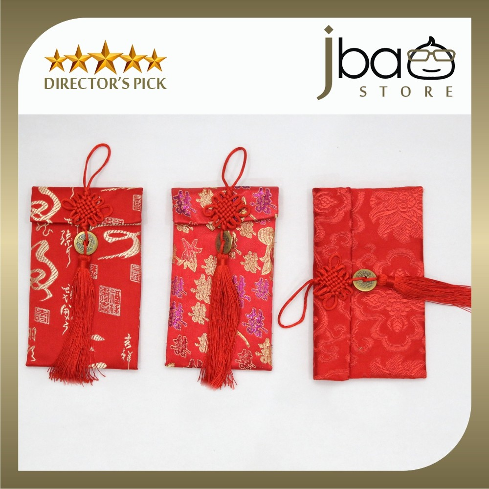 Premium Prosperity Fortune Wedding Father Mother Day Red Packet Angpao Purse