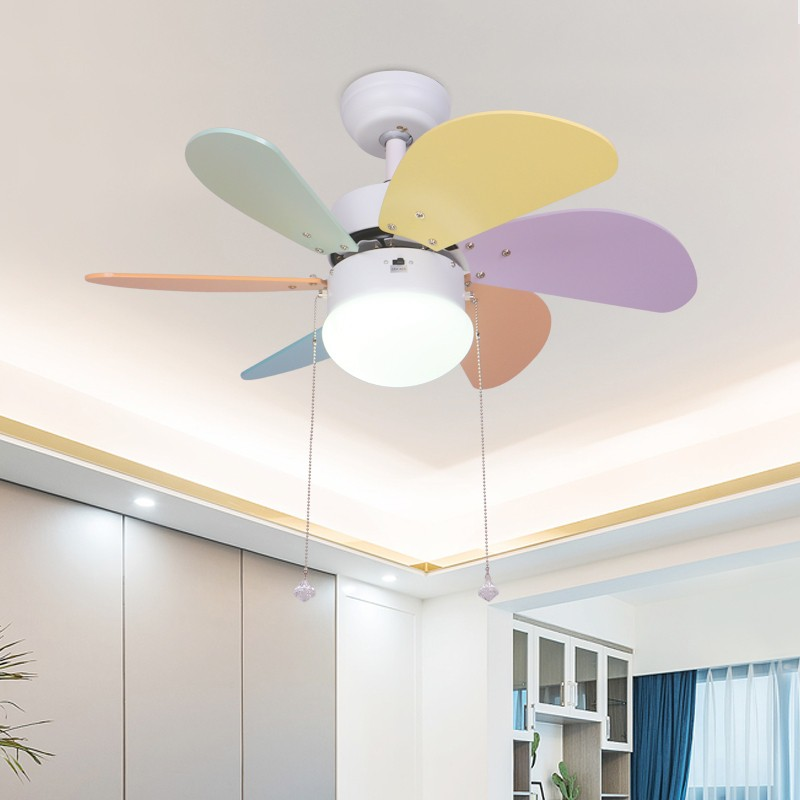 30 Inch Baby 36inch Colorful Blades White Brushed Nickel Ceiling Fan With Light 3 Speed Remote Control Decorative Ceiling Fan Light For Living Baby Room Shopee Malaysia