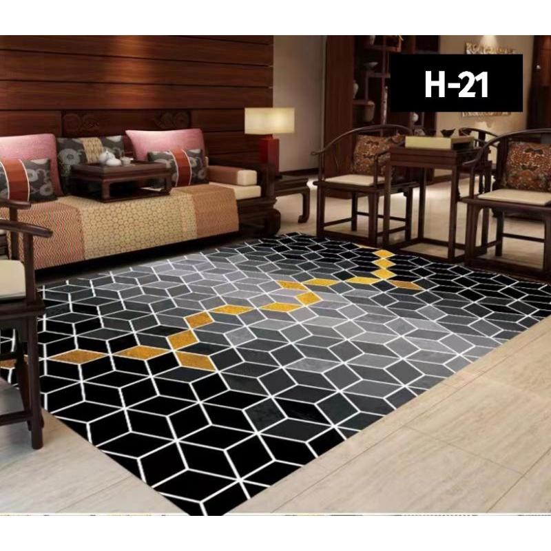 XXXL/XXL/XL/L Carpet Velvet 3D  (Turkey) [ Ready Stock ] for Home Deco / Karpet / Rugs/ Carpet Murah / Kitchen Carpet / 地毯