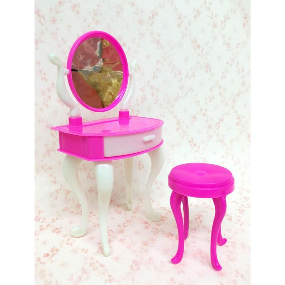 Pink Dresser Set Barbie Dolls Makeup