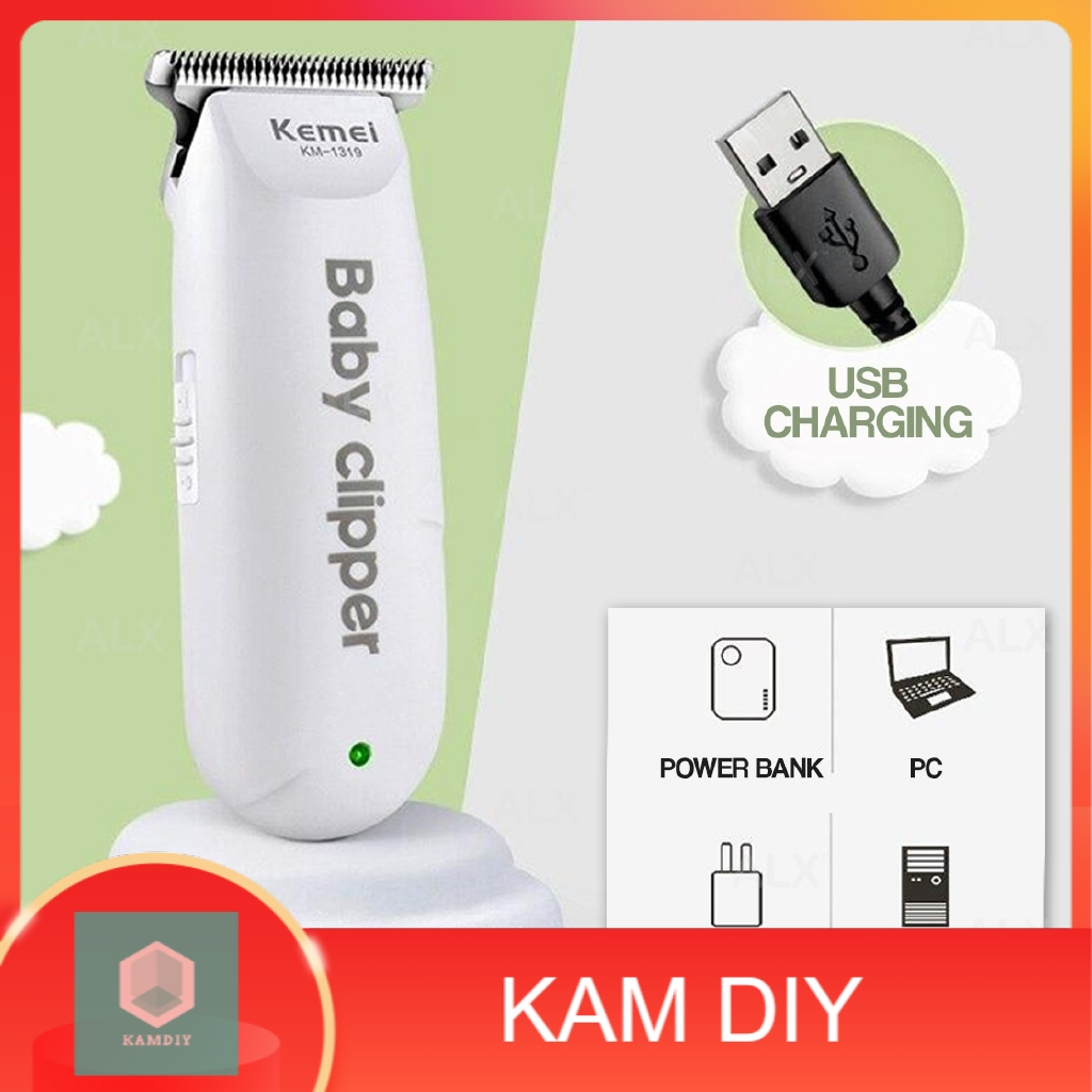 KEMEI Mini Portable Baby Hair Clipper Kids Haircut Trimmer Cutter Cordless Men Razor Gunting Rambut Misai Janggut