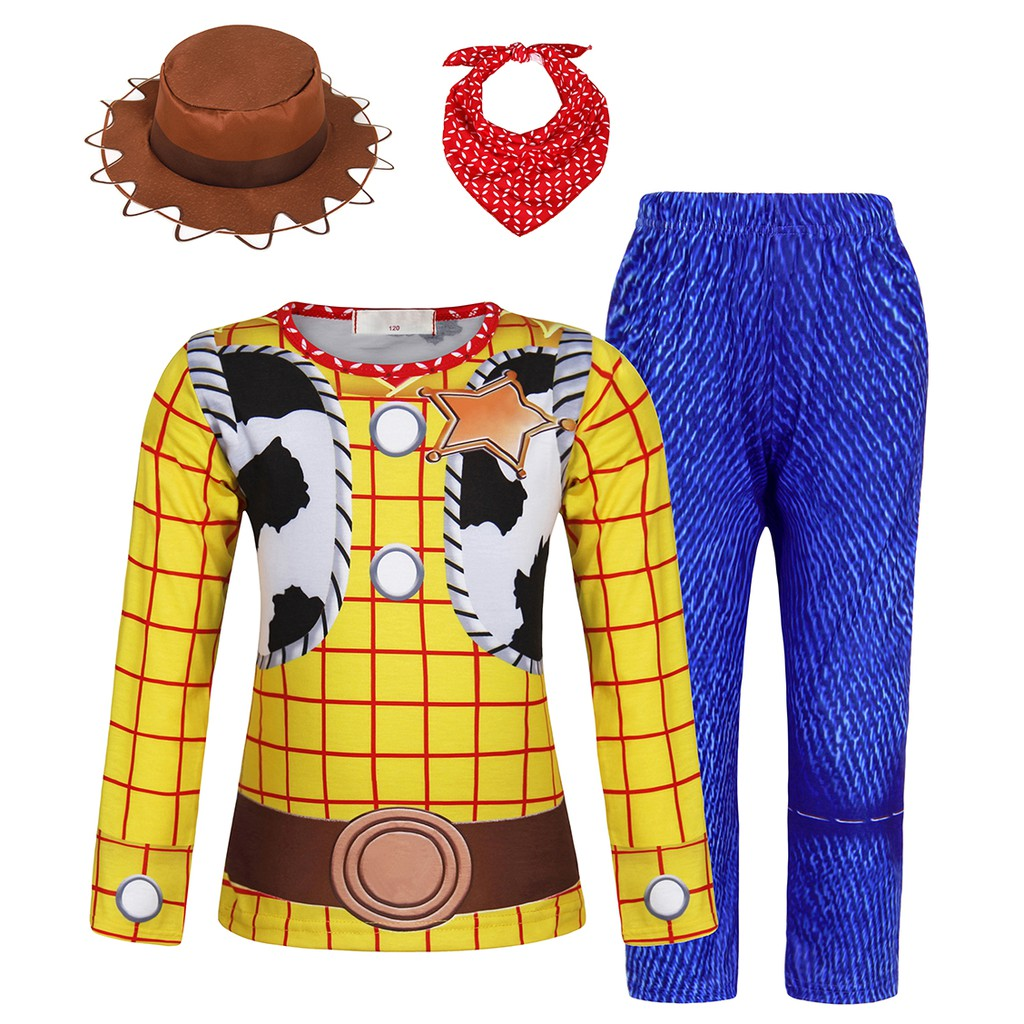 AmzBarley Boys Costume Cowboys Toy Story Fany Dress Halloween Cosplay Party Birthday Dress up