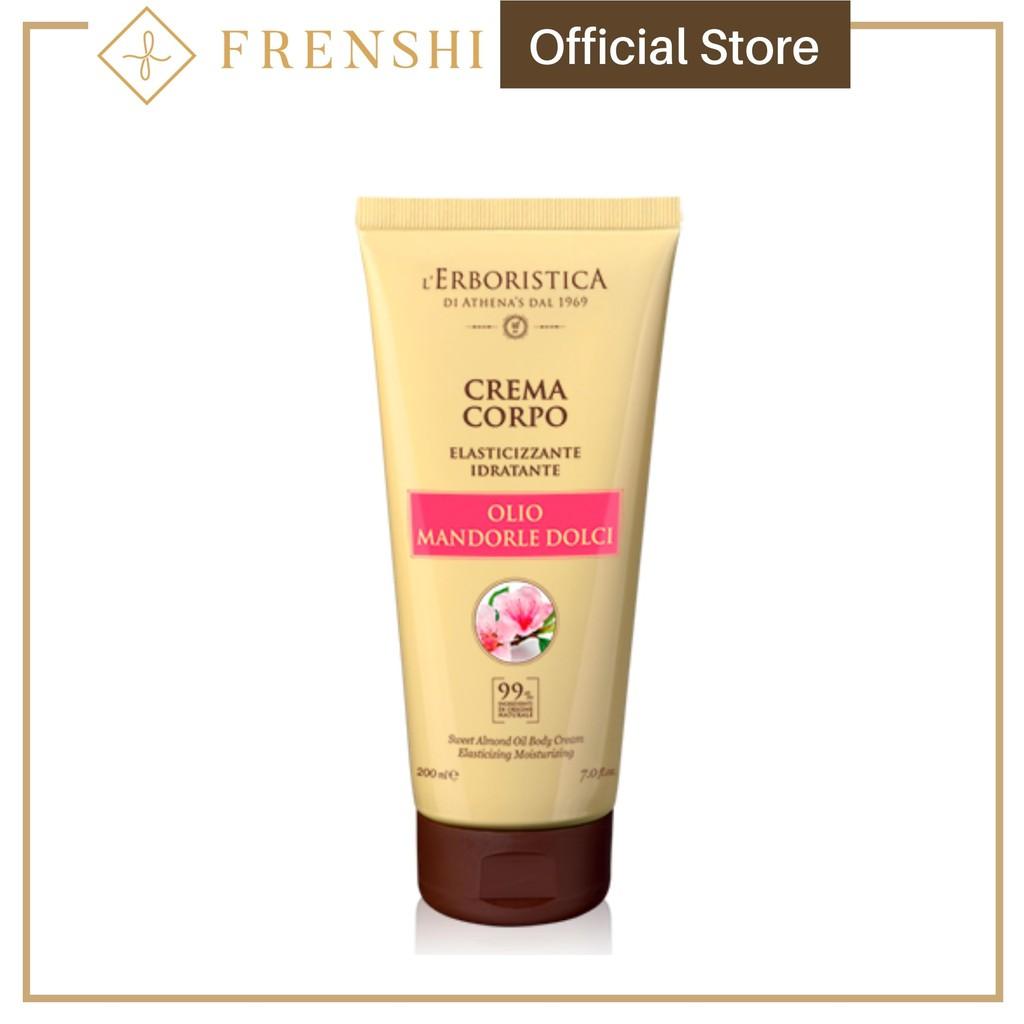 Frenshi L'Erboristica Body Cream (Made in Italy) - BODY CREAM WITH SWEET ALMOND OIL 200ML