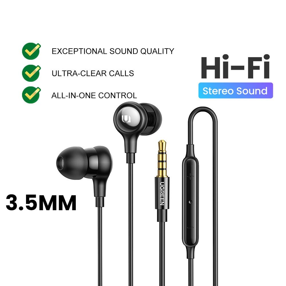 UGREEN Hi-tune Type C DAC 3.5MM Audio Jack Earphone with Microphone Volume Control Sony Xperia Samsung S21 Xiaomi POCO