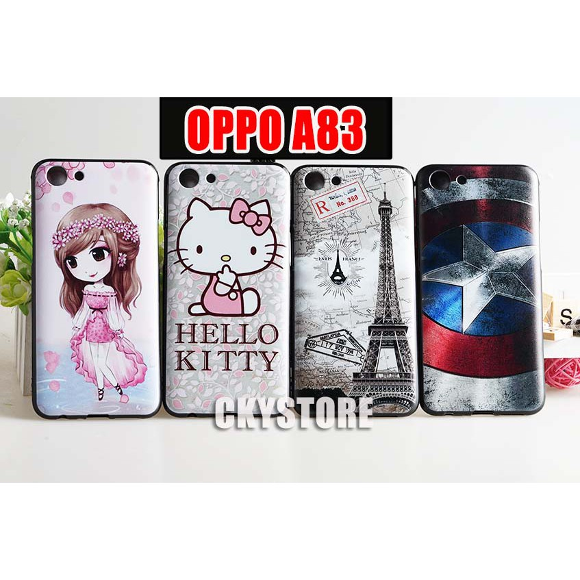 uk availability ff1fc be9c2 PROMOTION OPPO A83 Trendy Cartoon Soft TPU Case Cover