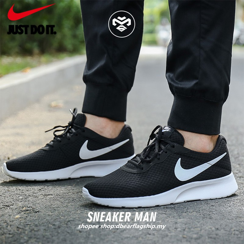 Deformación Documento diferente  ready stock】original Nike Tanjun BLACK WHITE 812654-011 MEN/WOMEN ...