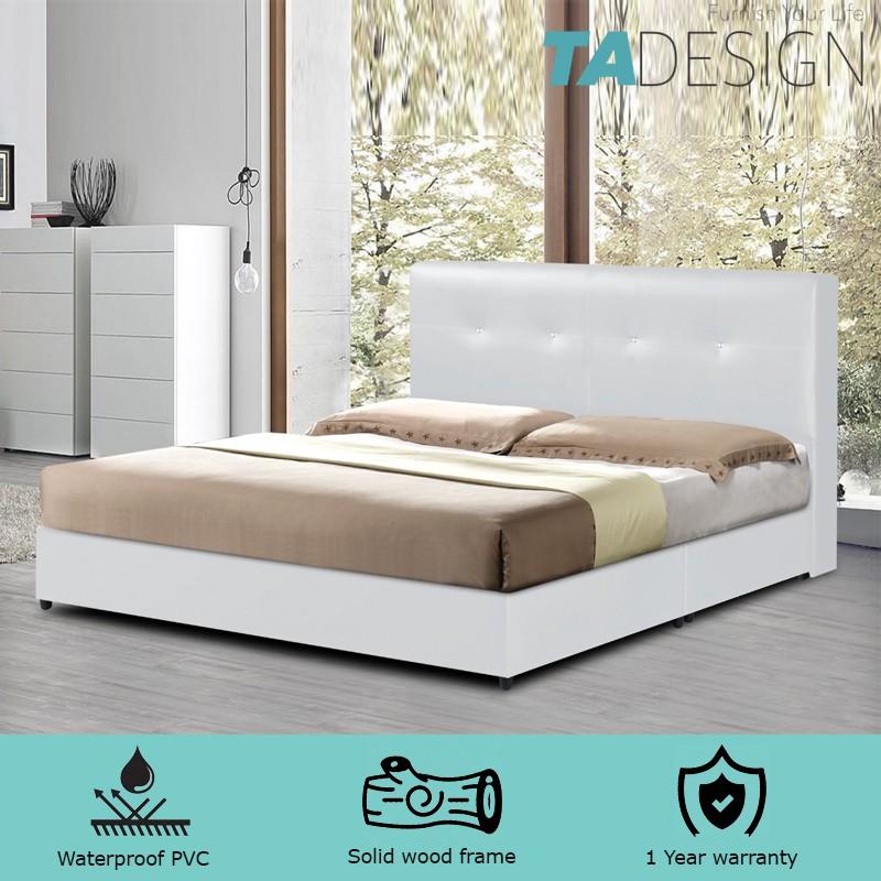 Furniture Direct BEKKER king size divan bed frame-grey/ katil king