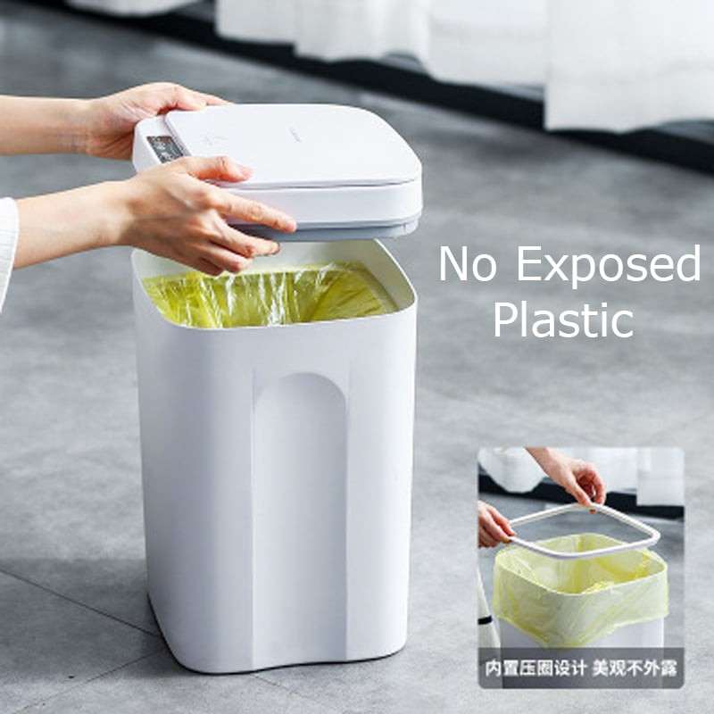 16L Touchless Dual Sensor Smart Dustbin tong sampah AI