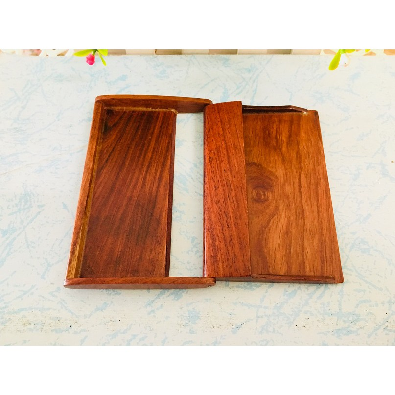 Classic Wooden Name Card Holder