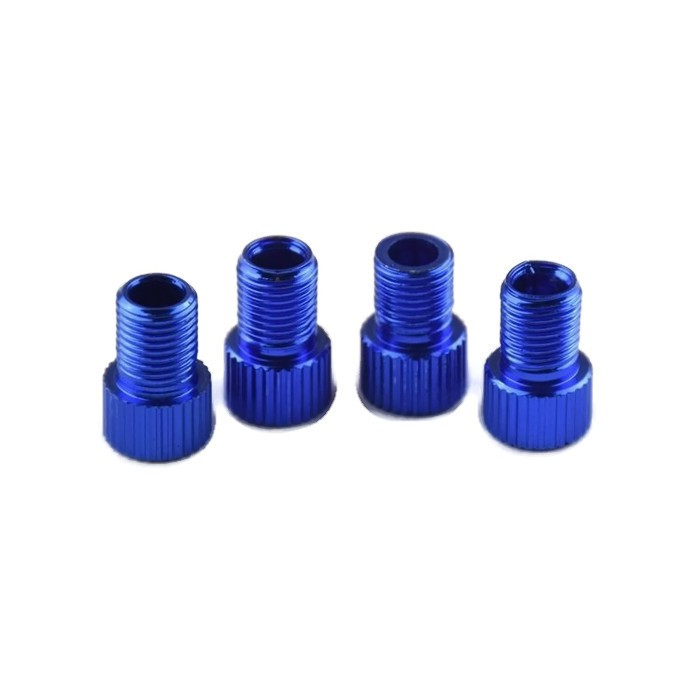 2x Presta to Schrader Valve Adapter Fxie Road MTB Bicycle Bike Tire Tube Blue