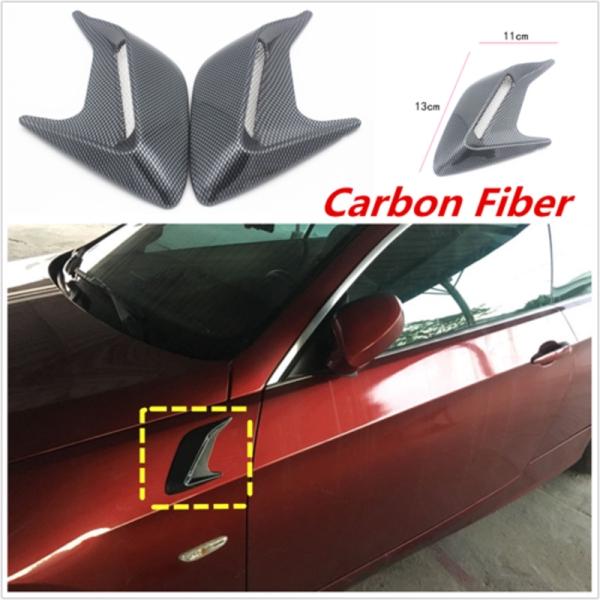 2x Universal DIY Car Auto Decorative Side Vent Air Flow Fender Intake Stickers