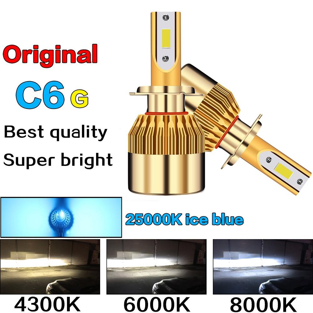 2pcs C6g LED Headlight H4 H7 H8 H11 H1 HB3 HB4 9006 9005 Car LED Bulb 8000LM