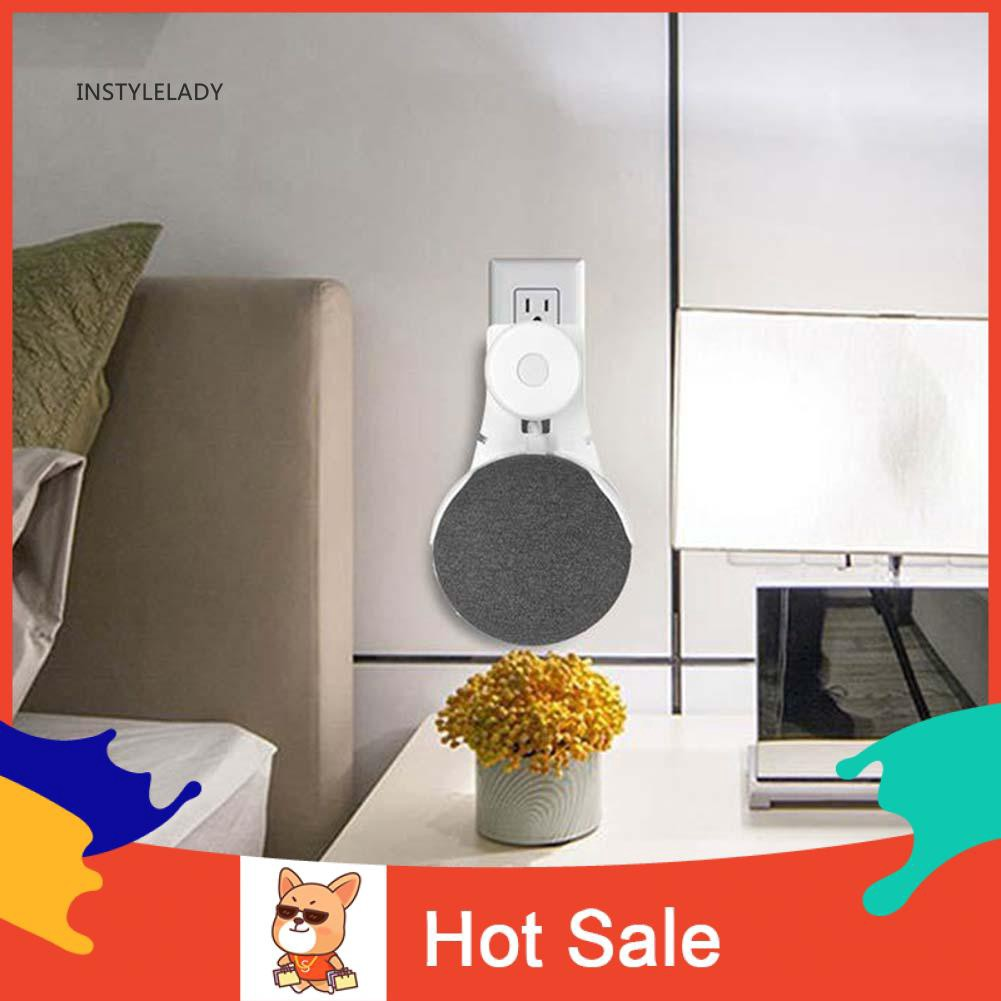 ✌ly Smart Speaker Outlet Wall Mount Holder for Google Home Mini Voice Assistant