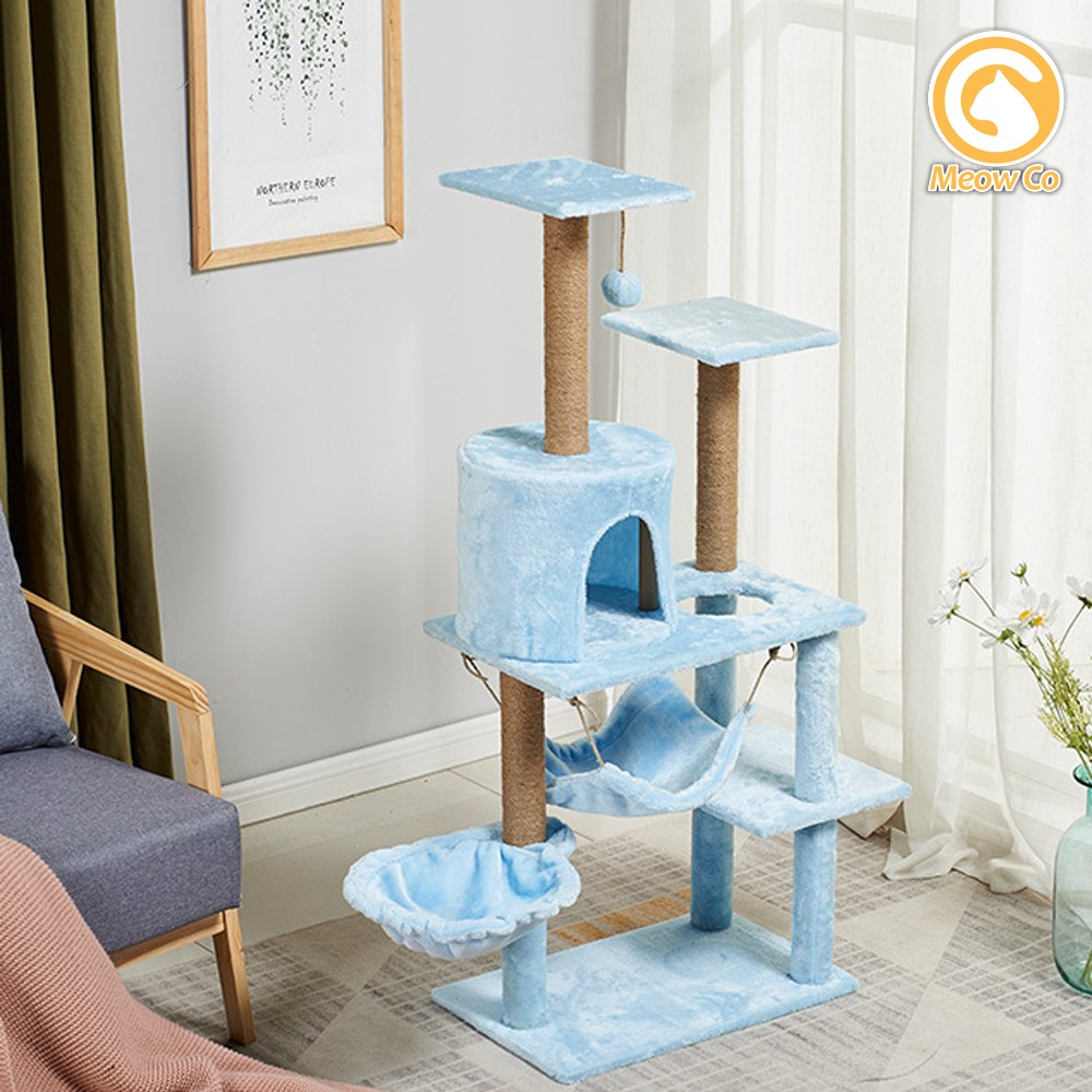 Pets Cat House Kitten Scratch Cat Condo Multi Level Sisal Covered Activity Play Cat Tree House Play Tower