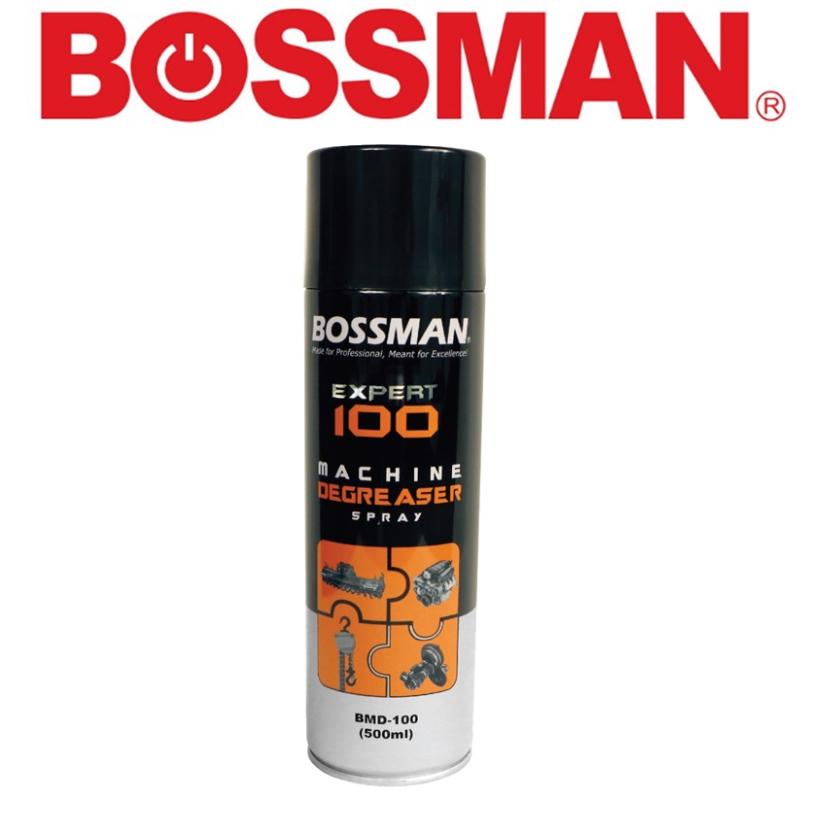 READY STOCK! BOSSMAN BMD-100 EXPERT  MACHINE DEGREASER SPRAY 500ML REMOVES  OIL GREASE DIRT GRINE PENETRATING FOAMACTION