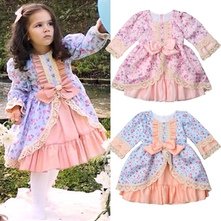 277e187e3e4ff AAL-Xmas Toddler Kids Baby Girl Lace Bowknot Dress Wedding Party ...
