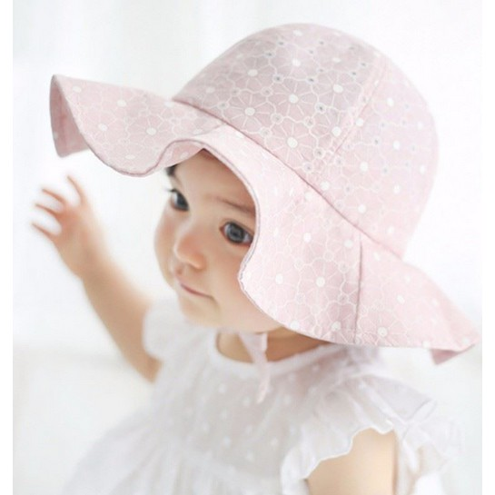 7b86f8c15a2d cl Baby Princess Bucket Hat Beach Cap QQ0024