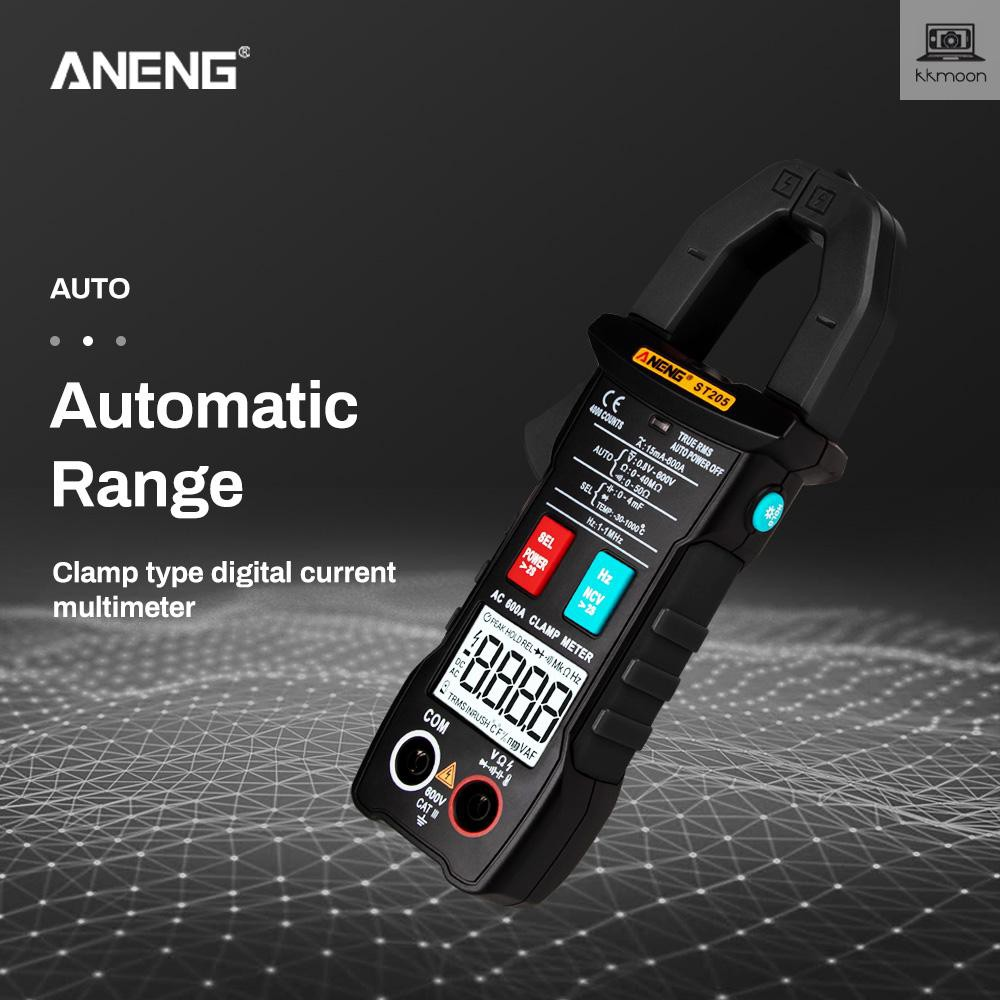 ANENG ST205 4000 Counts Full Intelligent Automatic Range True RMS Digital  Multimeter Clamp Meter AC/DC Voltage NCV Resis