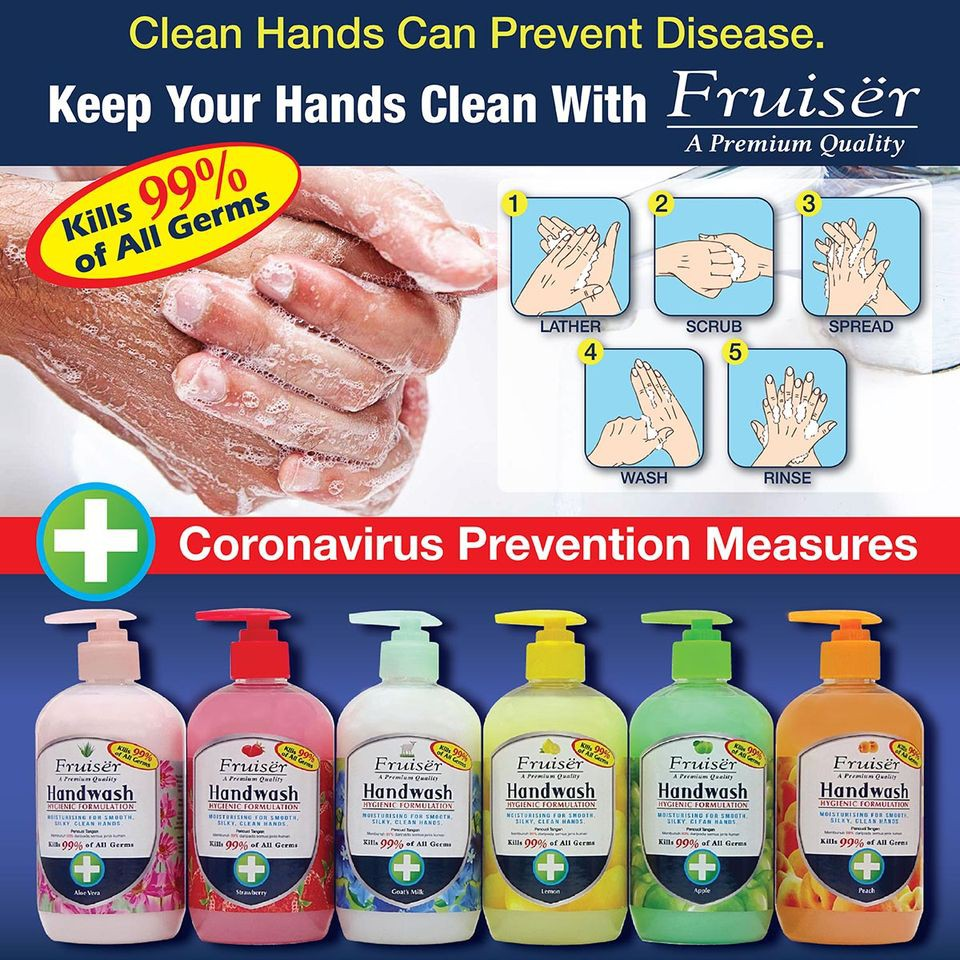 Fruiser Hygienic Formulation Hand Wash (500ml)