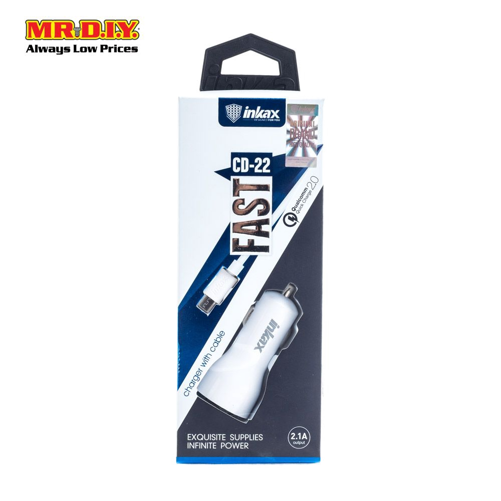 INKAX CD-22 Fast Charger with Cable (White)   Shopee Malaysia