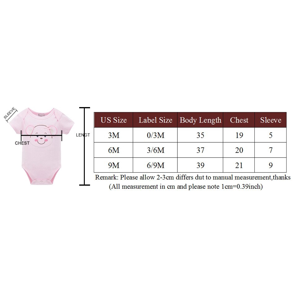 0-12 Month 3 Pack kavkas Baby Bodysuit Cute Short Sleeve Onesies Coverall Soft Cotton Undershirt for Toddler Infant Boys and Girls