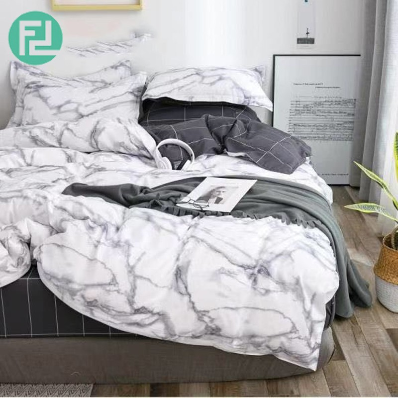 MARBLE fitted 5 piece 800 thread bedsheet bedroom set – queen size