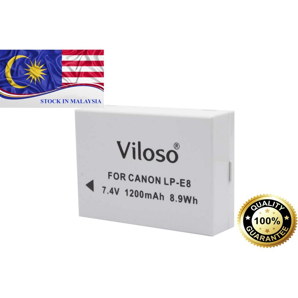 BATTERY VILOSO LP-E8 For Canon Camera(Ready Stock In Malaysia)