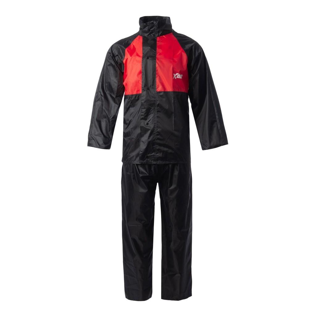XDOT Raincoat Motorcycle RC08 (RED) Baju Hujan