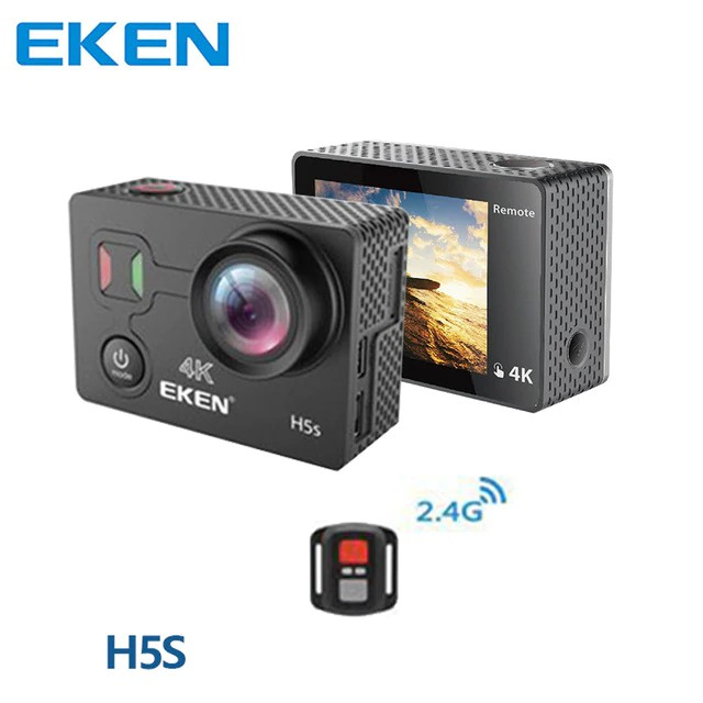 EKEN H5s 4K Ultra EIS Anti-shake Action Camera Waterproof 2 Inch Touch Screen .