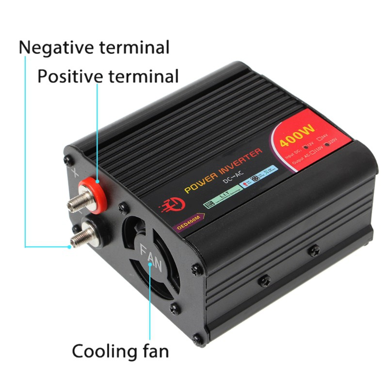 ☀S☀400Watt Power Inverter DC 12V to 220V AC Car Inverter with USB Charging  Port